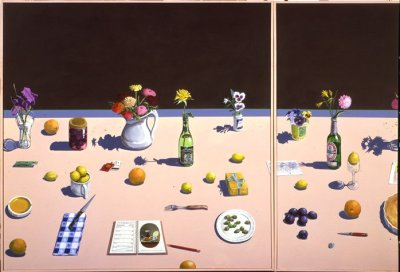 paul wonner, abstract expressionist style, Theophilus Brown, hyperrealist art, nyc art scene, yiannis bellis, new york art