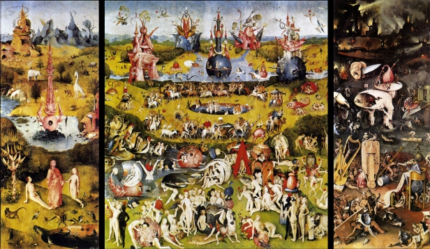 hieronymus bosch paintings, hieronymus bosch prints, Garden of Earthly Delights, triptych